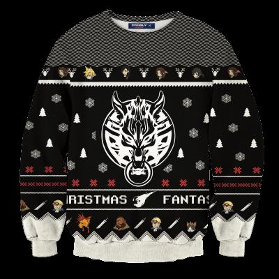 Final Fantasy Cloud Christmas Unisex Wool Sweater FDM0310 S Official Otaku Treat Merch