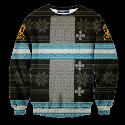 Fire Force Christmas Unisex Wool Sweater FDM0310 S Official Otaku Treat Merch