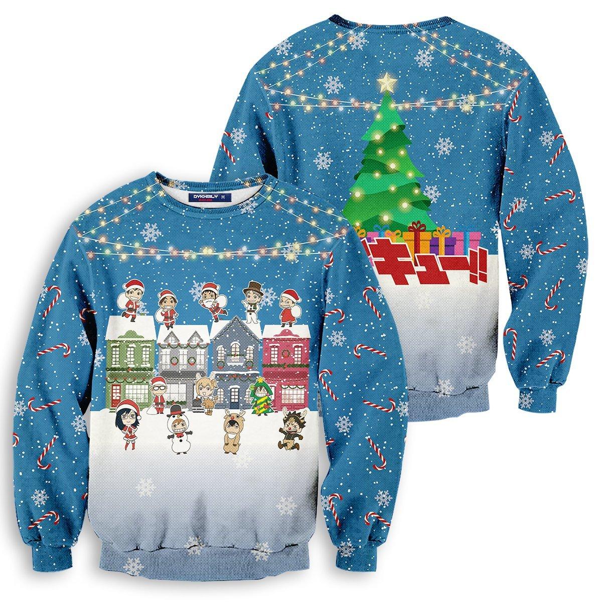Fly High Christmas Unisex Wool Sweater FDM0310 S Official Otaku Treat Merch