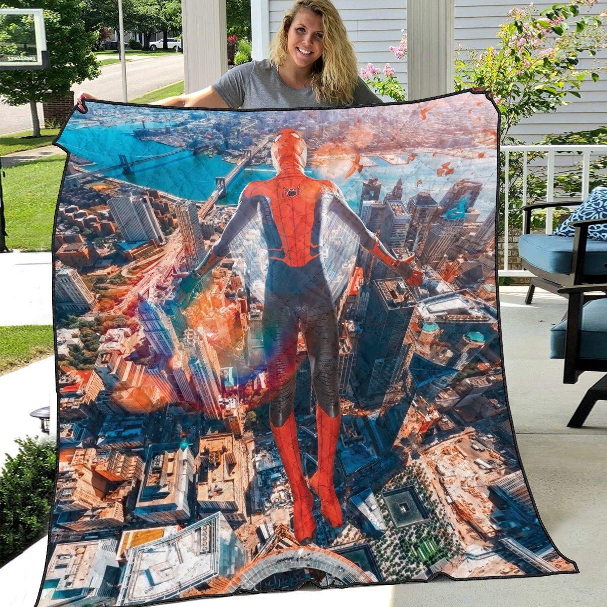 friendly neighborhood hero quilt blanket 391631 - Otaku Treat