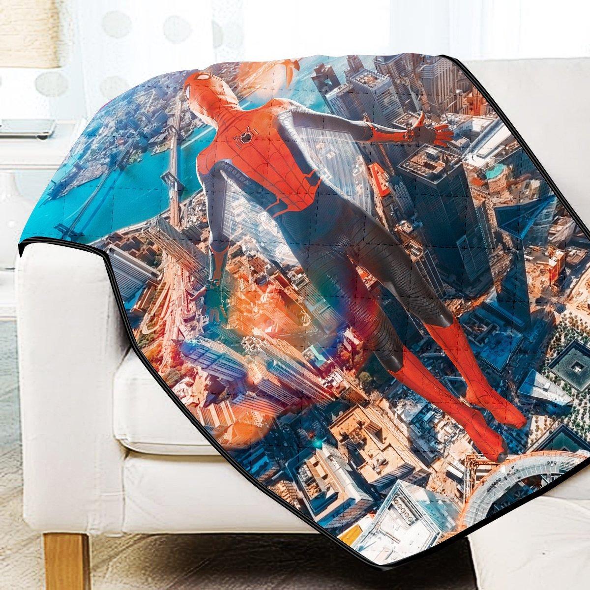 Friendly Neighborhood Hero Quilt Blanket Official Merch FDM3009 Twin Official Otaku Treat Merch