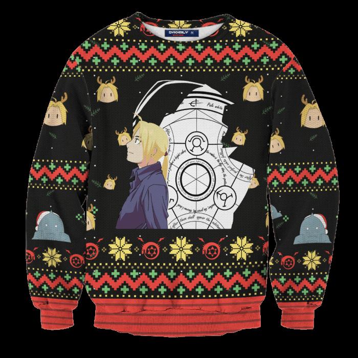 Fullmetal Christmas Unisex Wool Sweater FDM0310 S Official Otaku Treat Merch