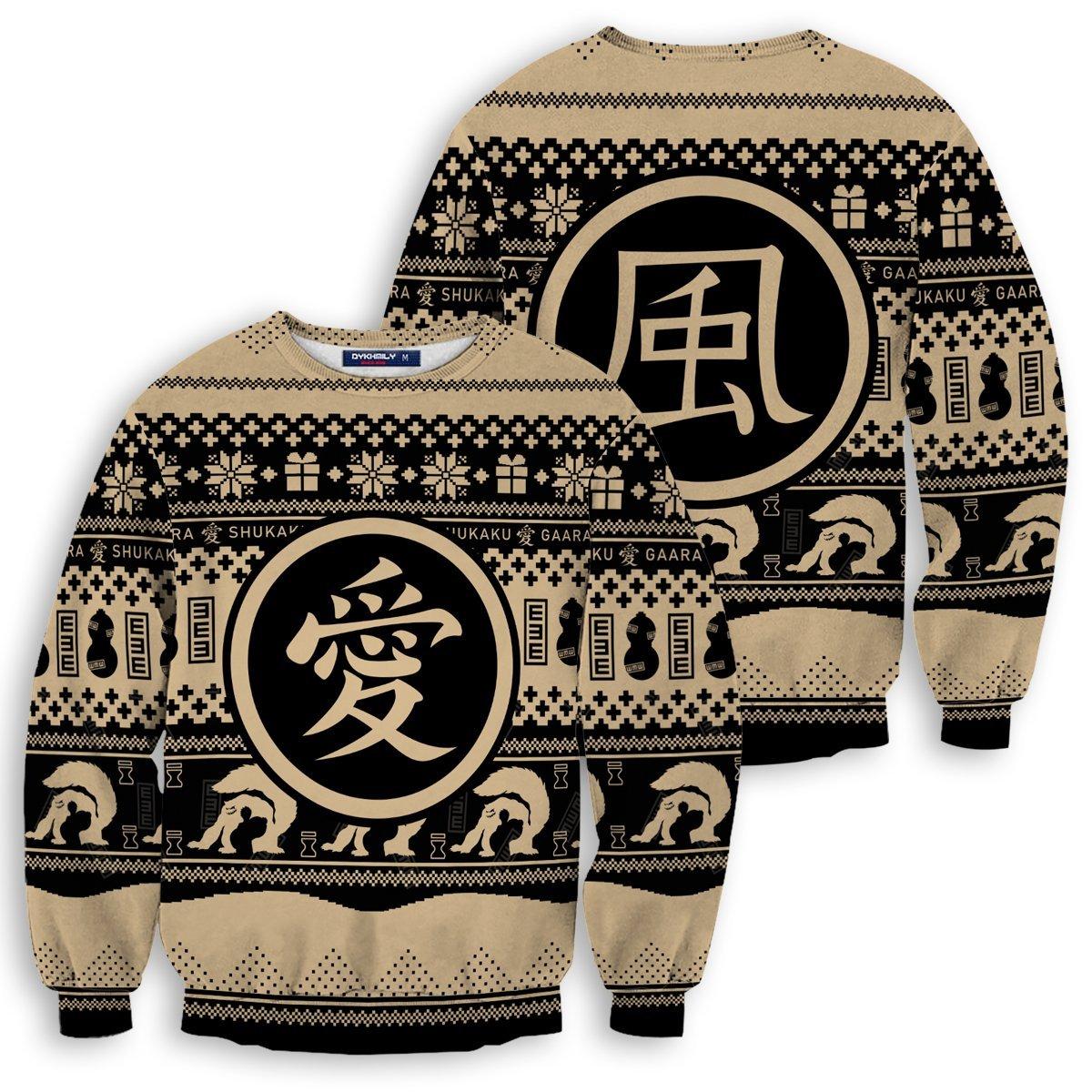 Gaara Sand Unisex Wool Sweater FDM0310 S Official Otaku Treat Merch