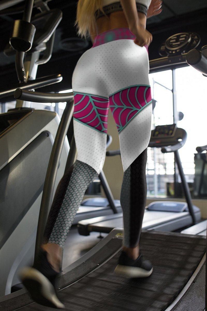 ghost spider unisex tights v2 177734 - Otaku Treat