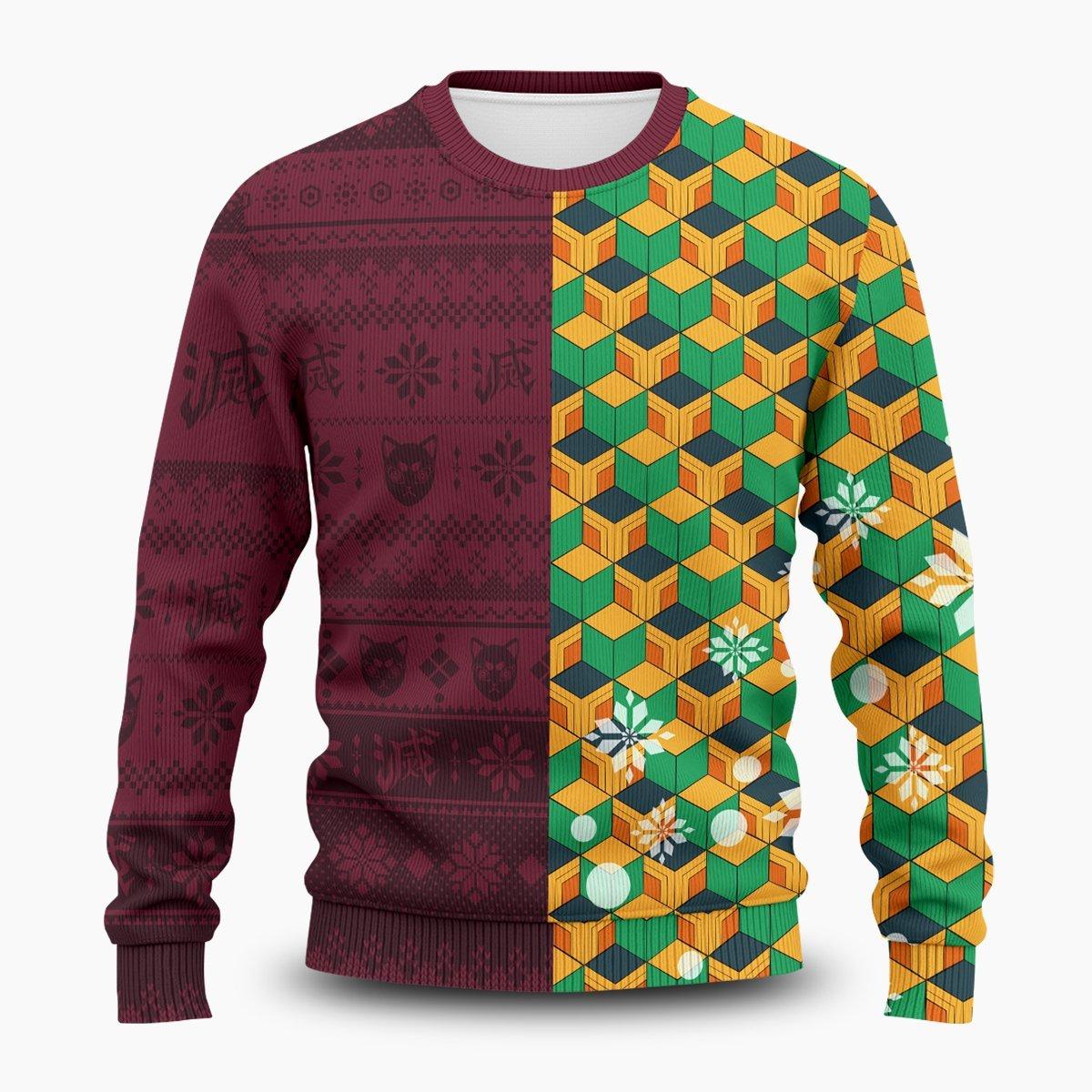 Giyu Christmas Unisex Wool Sweater FDM0310 S Official Otaku Treat Merch