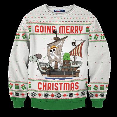 Going Merry Christmas Unisex Wool Sweater FDM0310 S Official Otaku Treat Merch