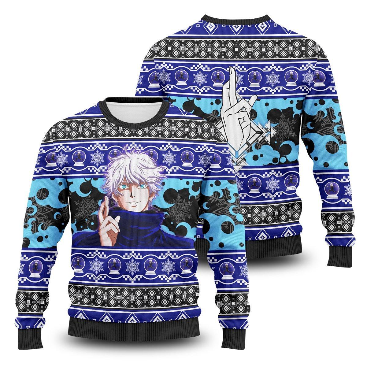 Gojo Xmas Unisex Wool Sweater FDM0310 S Official Otaku Treat Merch