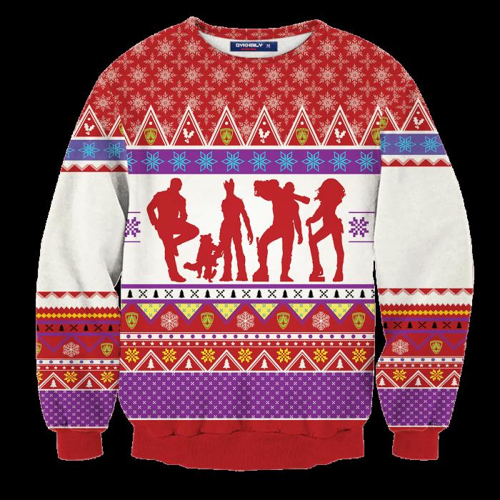 Guardians of the Christmas Galaxy Unisex Wool Sweater FDM0310 S Official Otaku Treat Merch