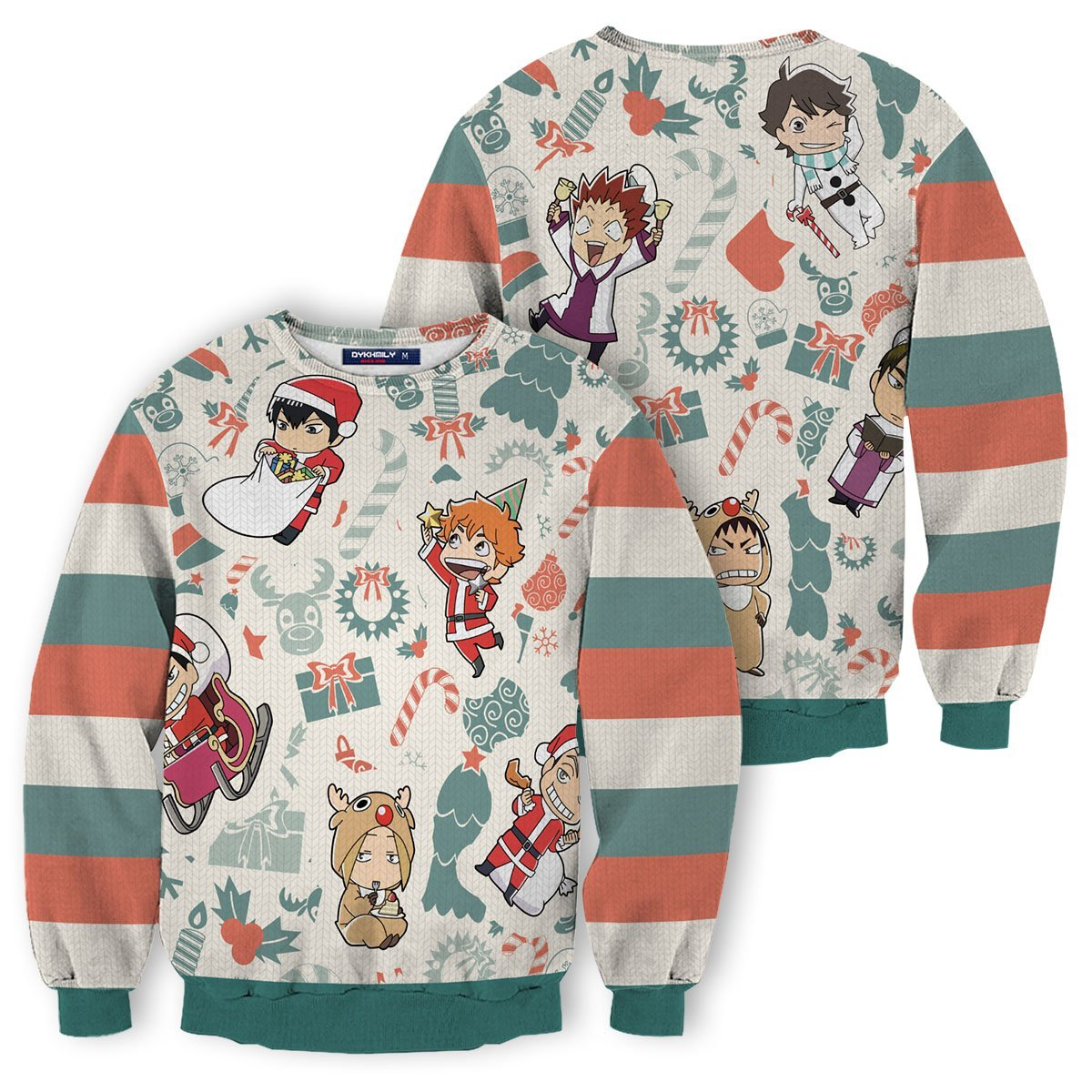 Haikyuu Christmas Unisex Wool Sweater FDM0310 S Official Otaku Treat Merch