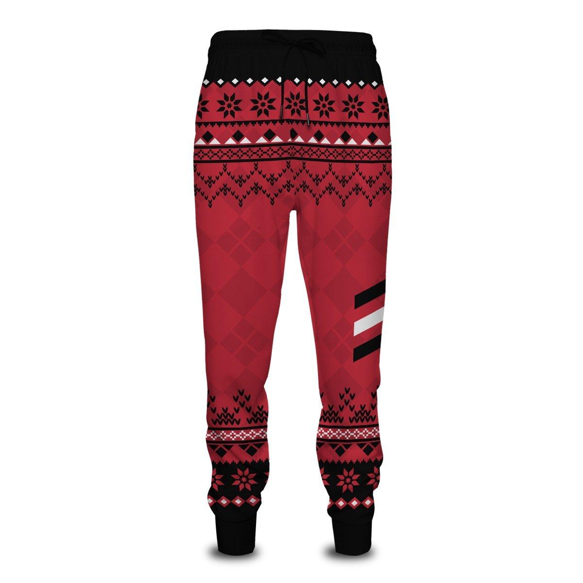 Haikyuu National Team Christmas Jogger Pants FDM0310 S Official Otaku Treat Merch