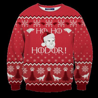 Ho! Ho! Hodor! Unisex Wool Sweater FDM0310 S Official Otaku Treat Merch