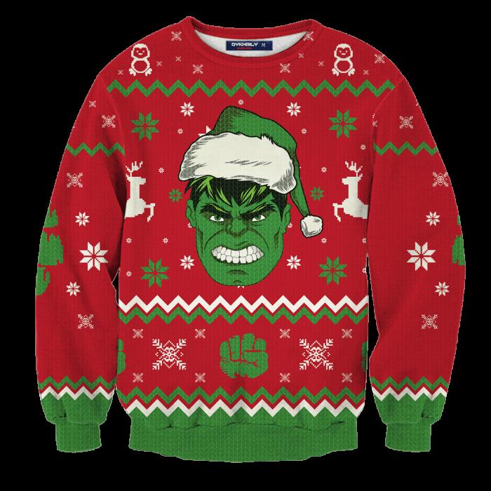 Hulk Smashin' Christmas Unisex Wool Sweater FDM0310 S Official Otaku Treat Merch
