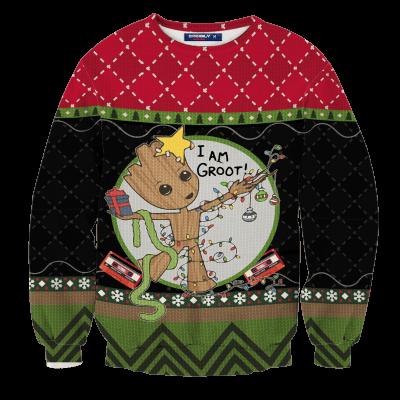 I am Groot Unisex Wool Sweater FDM0310 S Official Otaku Treat Merch