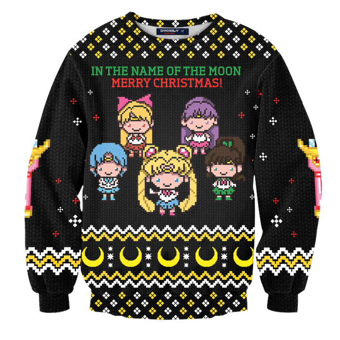 In The Name of The Moon Unisex Wool Sweater FDM0310 S Official Otaku Treat Merch