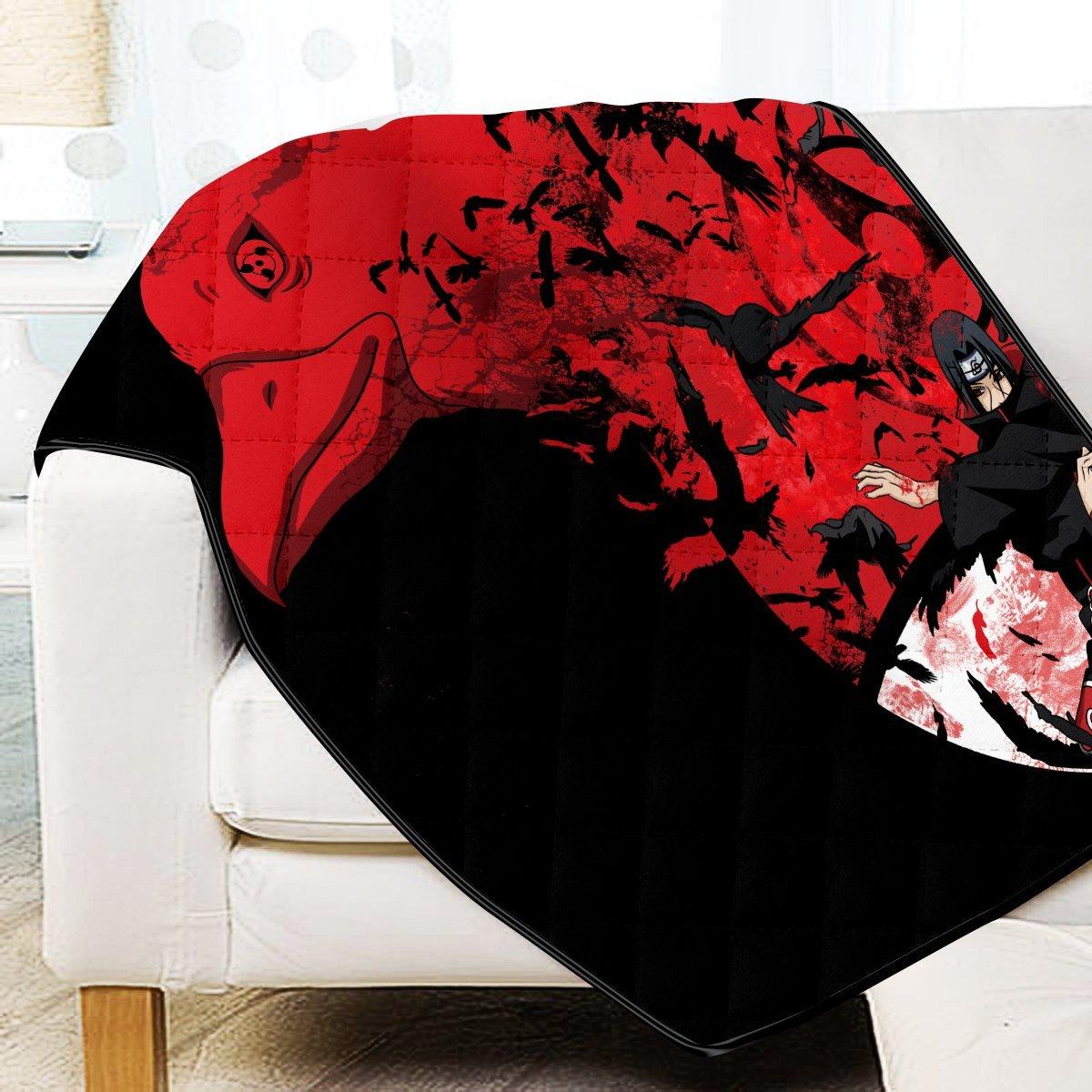 Itachi Summoning Crow Quilt Blanket Official Merch FDM3009 Twin Official Otaku Treat Merch