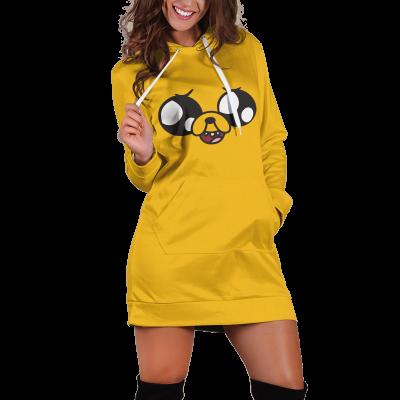 Jake Adventure Time v2 Hoodie Dress Official Merch FDM3009 XS Official Otaku Treat Merch