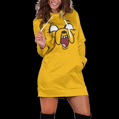 Jake Adventure Time v3 Hoodie Dress Official Merch FDM3009 XS Official Otaku Treat Merch