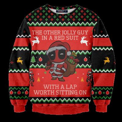Jolly Guy in Red Unisex Wool Sweater FDM0310 S Official Otaku Treat Merch
