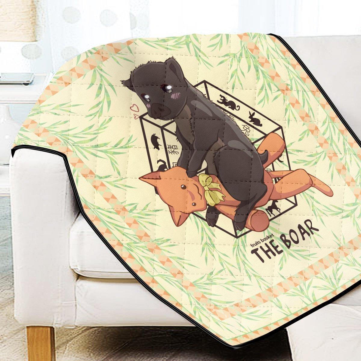 Kagura The Boar Quilt Blanket Official Merch FDM3009 Twin Official Otaku Treat Merch