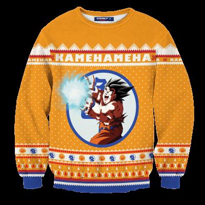 Kamehameha Christmas Unisex Wool Sweater FDM0310 S Official Otaku Treat Merch