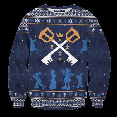 Kingdom Hearts Christmas Unisex Wool Sweater FDM0310 S Official Otaku Treat Merch