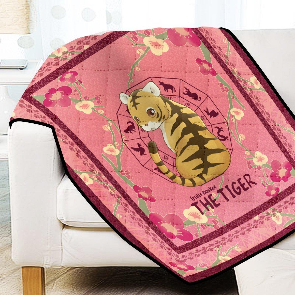 Kisa the Tiger Quilt Blanket Official Merch FDM3009 Twin Official Otaku Treat Merch