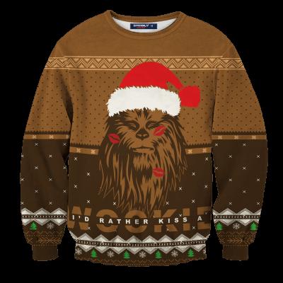 Kiss A Wookiee Unisex Wool Sweater FDM0310 S Official Otaku Treat Merch