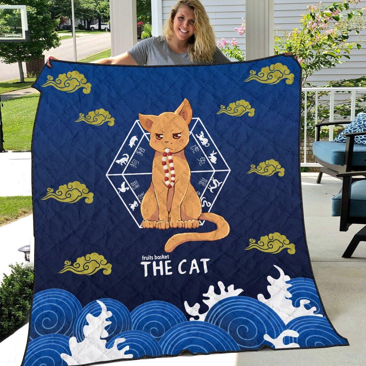 kyo the cat quilt blanket 177715 - Otaku Treat
