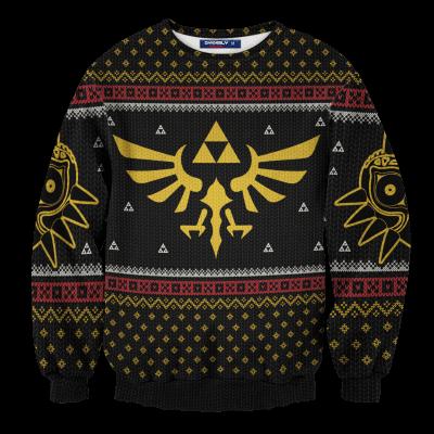 Legend of Zelda Triforce Christmas Unisex Wool Sweater FDM0310 S Official Otaku Treat Merch