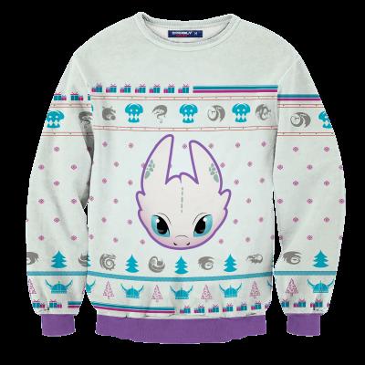 Light Fury Christmas Unisex Wool Sweater FDM0310 S Official Otaku Treat Merch