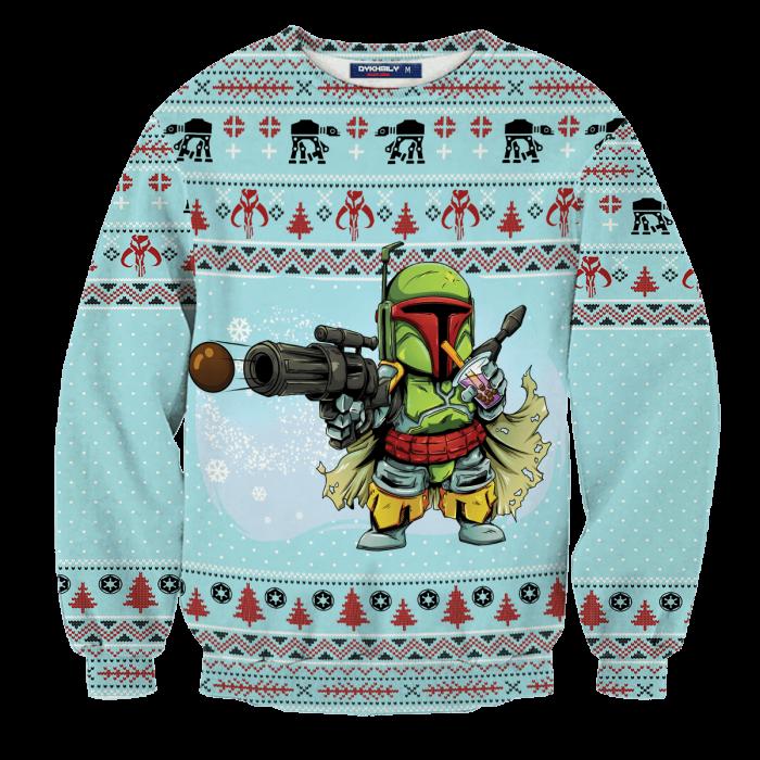 MERRY BobaMAS Unisex Wool Sweater FDM0310 S Official Otaku Treat Merch