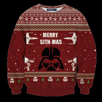 Merry Sith-Mas Unisex Wool Sweater FDM0310 S Official Otaku Treat Merch