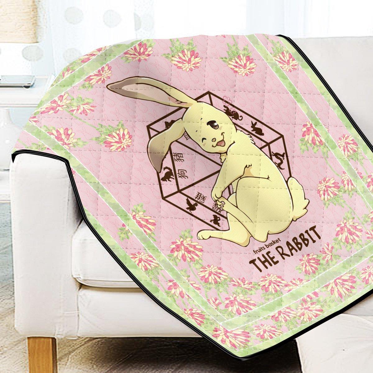 Momiji The Rabbit Quilt Blanket Official Merch FDM3009 Twin Official Otaku Treat Merch