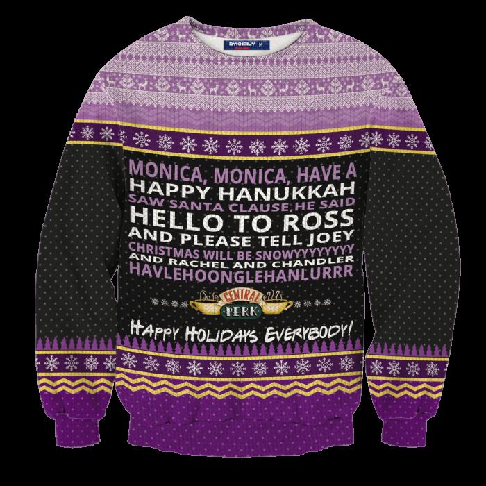 Monica Happy Hanukkah Unisex Wool Sweater FDM0310 S Official Otaku Treat Merch