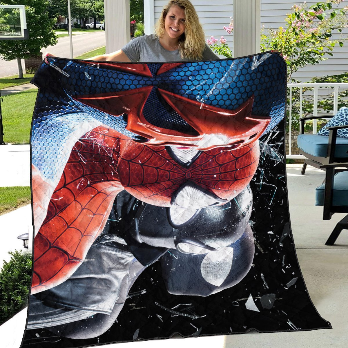 multiverse spider man quilt blanket 103126 - Otaku Treat