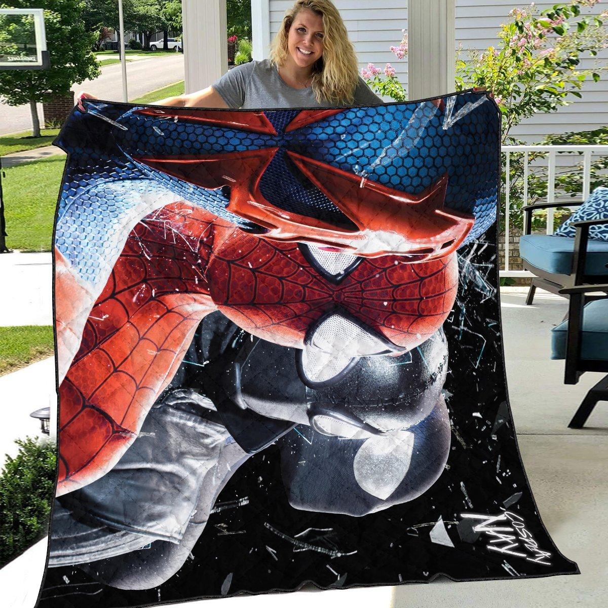 multiverse spider man signed quilt blanket 611257 - Otaku Treat