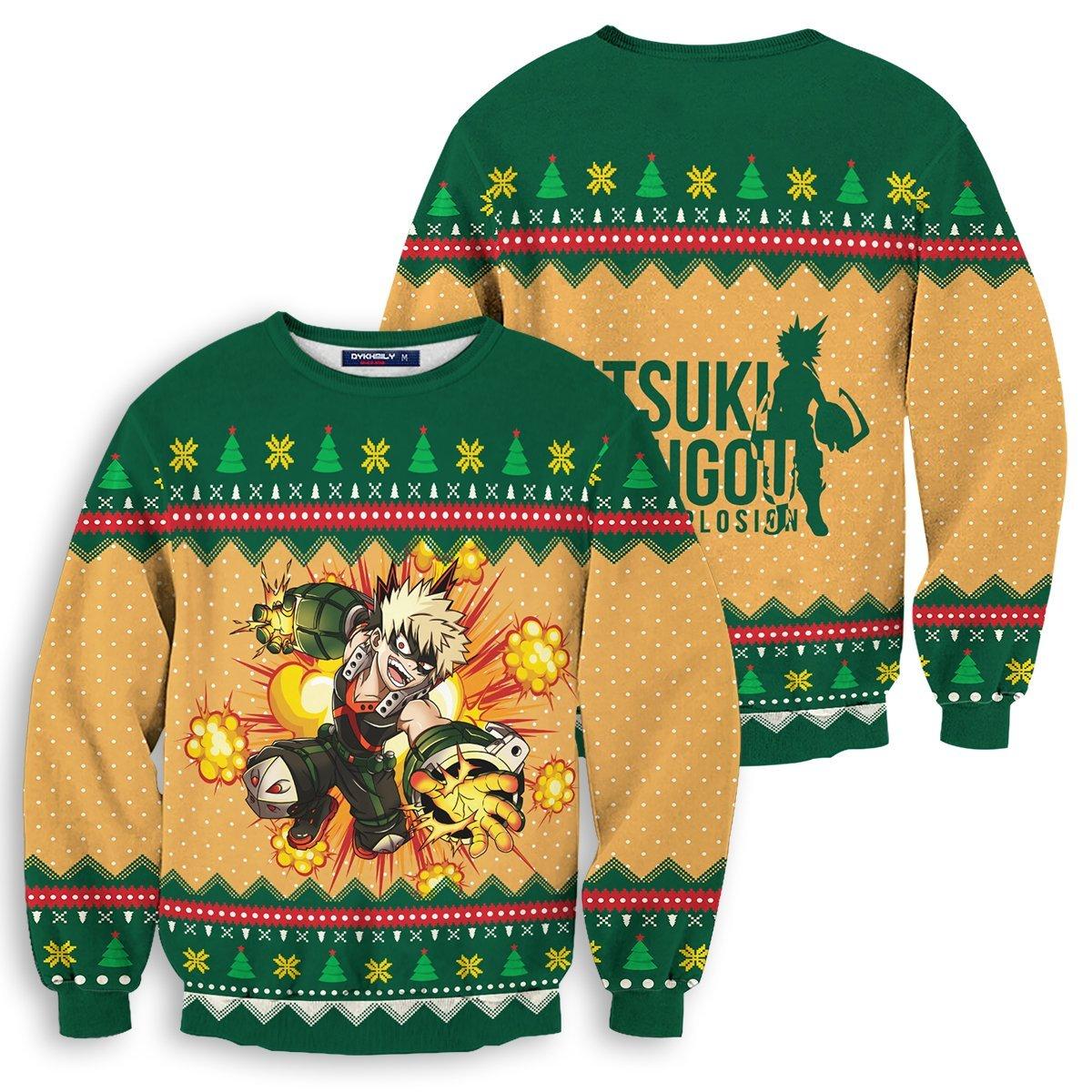 New Katsuki Boom Unisex Wool Sweater FDM0310 S Official Otaku Treat Merch