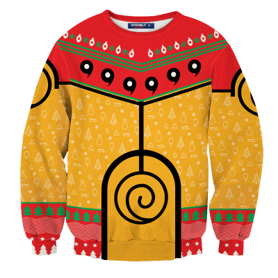 Nine Tails Christmas Chakra Unisex Wool Sweater FDM0310 S Official Otaku Treat Merch
