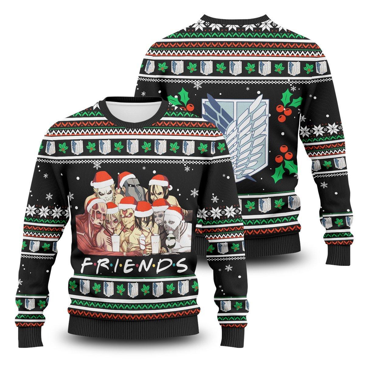 Nine Titans Friends Unisex Wool Sweater FDM0310 S Official Otaku Treat Merch