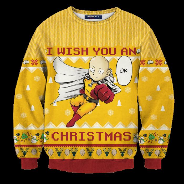 Ok Christmas Unisex Wool Sweater FDM0310 S Official Otaku Treat Merch