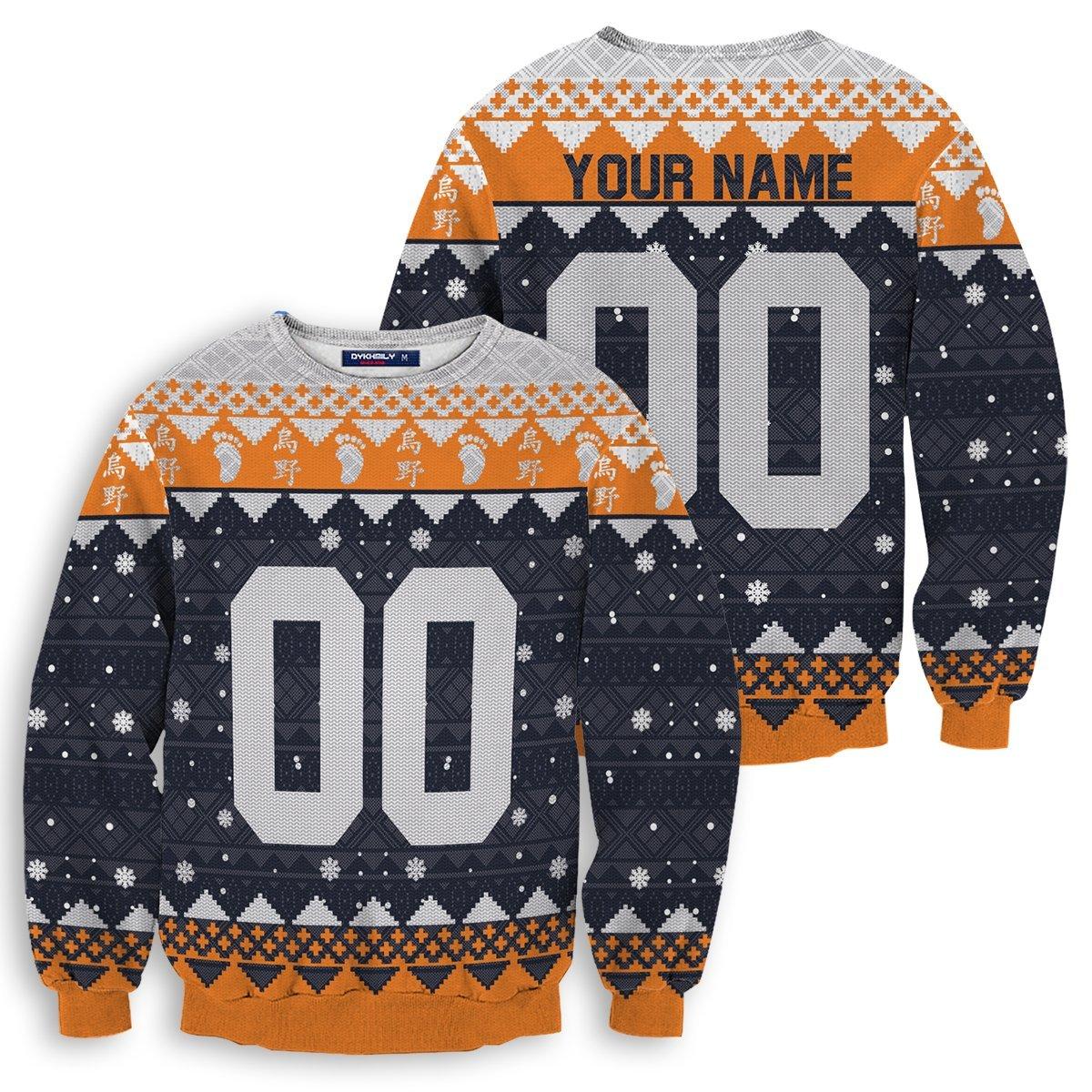 Personalized Karasuno Christmas Unisex Wool Sweater FDM0310 S Official Otaku Treat Merch