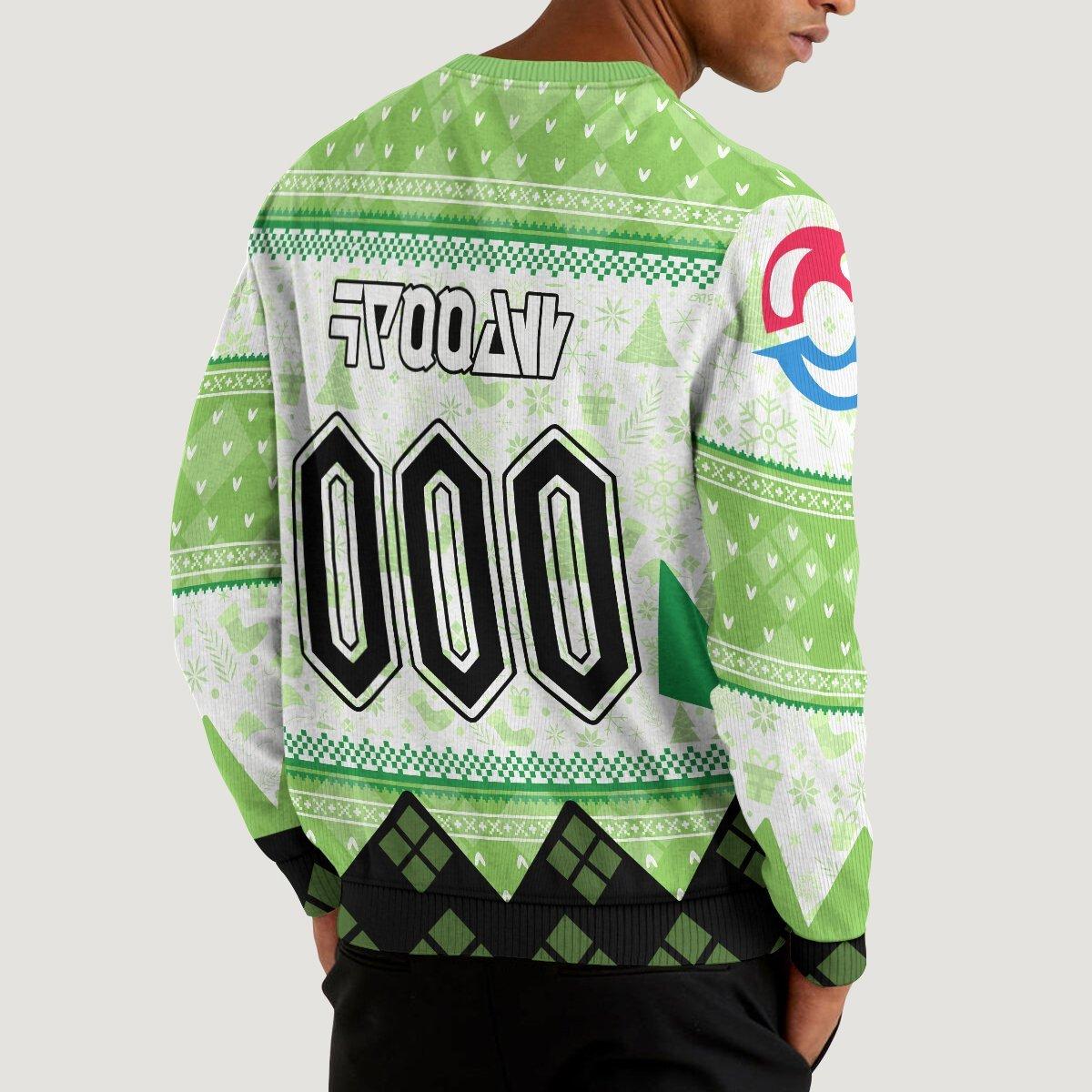 personalized pokemon grass uniform unisex wool sweater 565019 - Otaku Treat