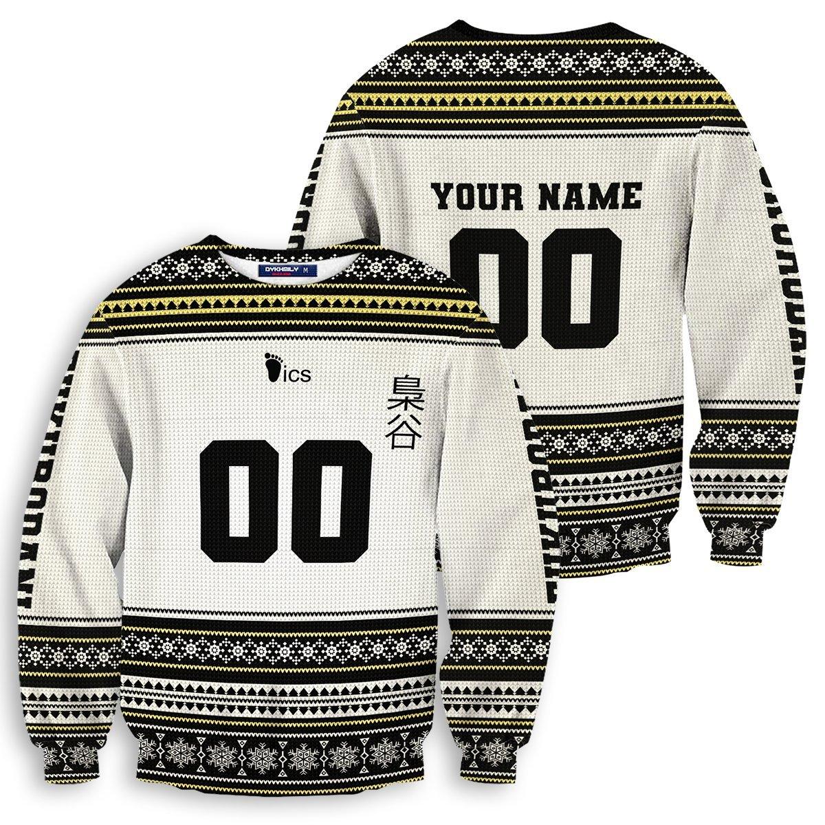 Personalized Team Fukurodani Christmas Unisex Wool Sweater FDM0310 S Official Otaku Treat Merch