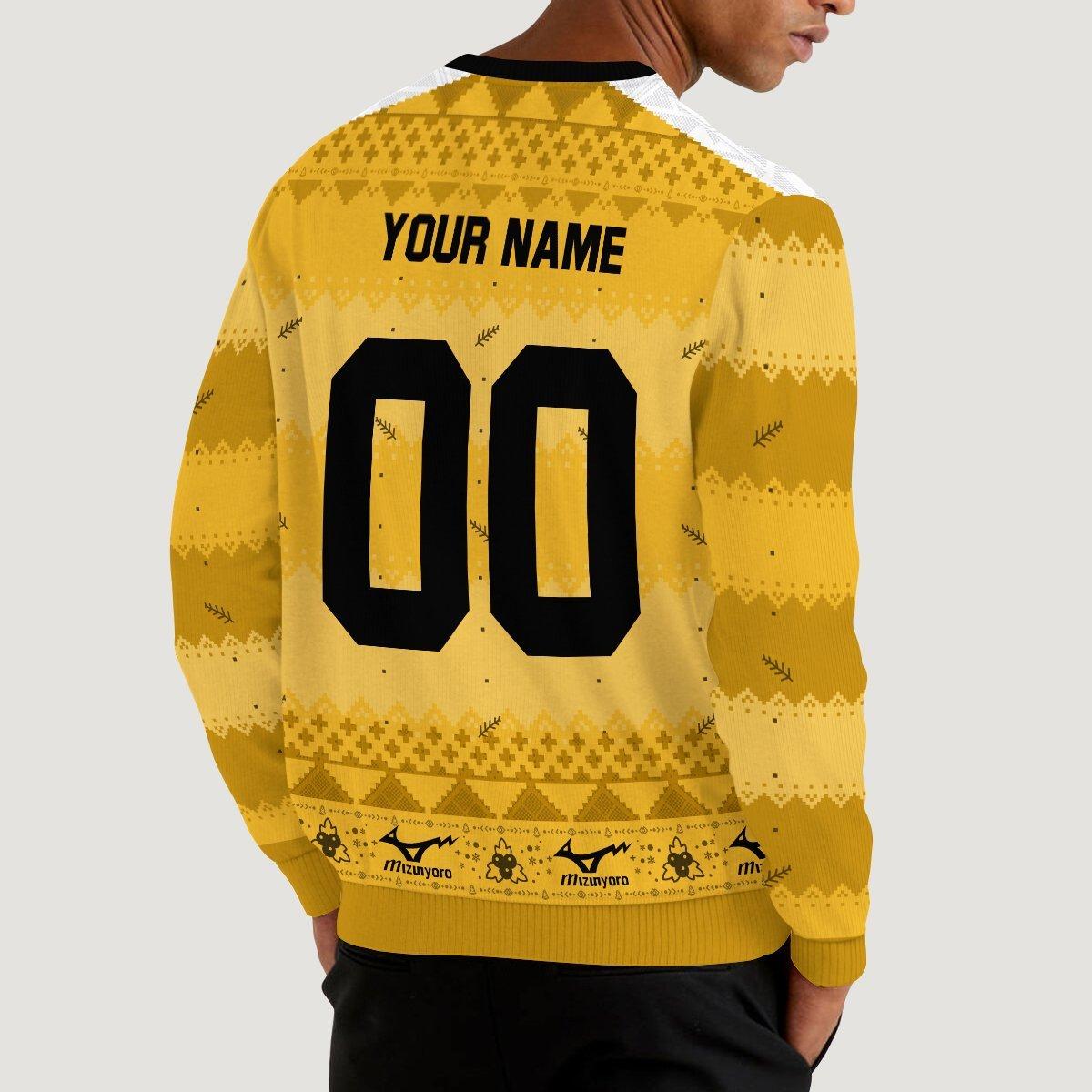 personalized team johzenji christmas unisex wool sweater 257983 - Otaku Treat