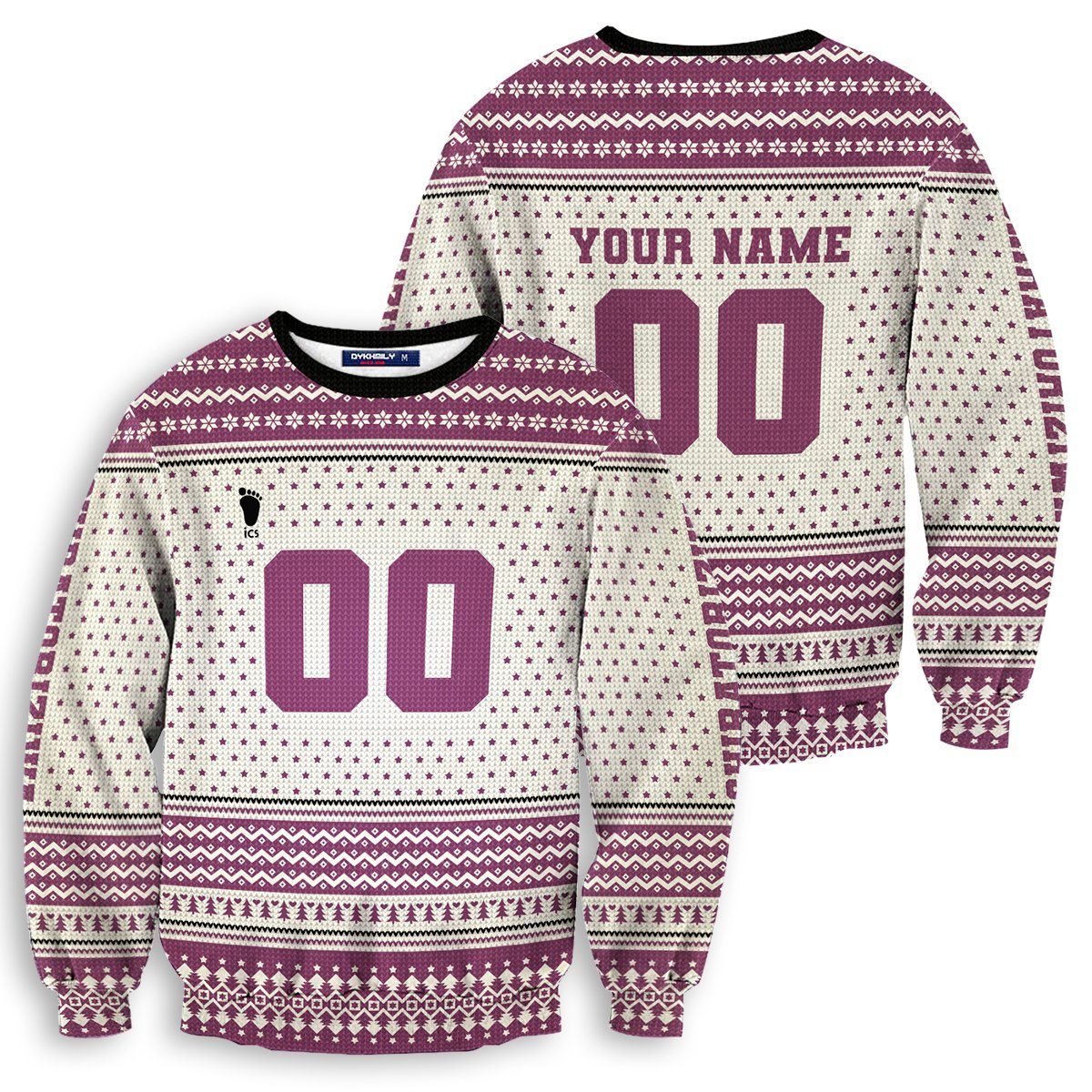 Personalized Team Shiratorizawa Christmas Unisex Wool Sweater FDM0310 S Official Otaku Treat Merch