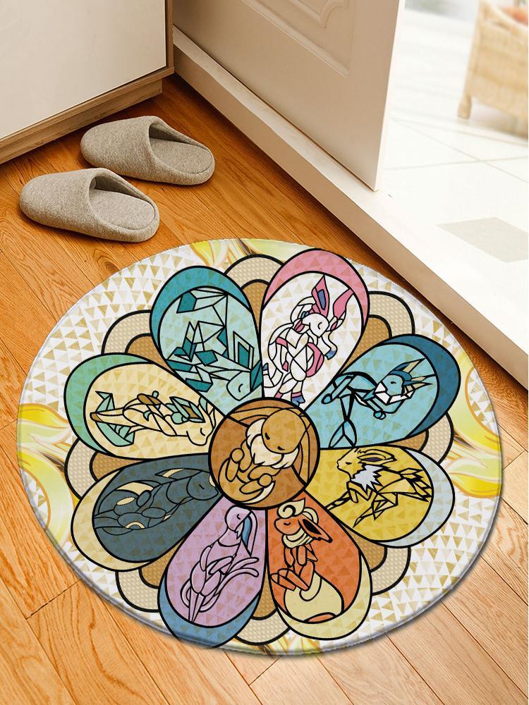 Pokemon Go Eevee Carpet/Rug Official Merch FDM3009 Round / S Official Otaku Treat Merch