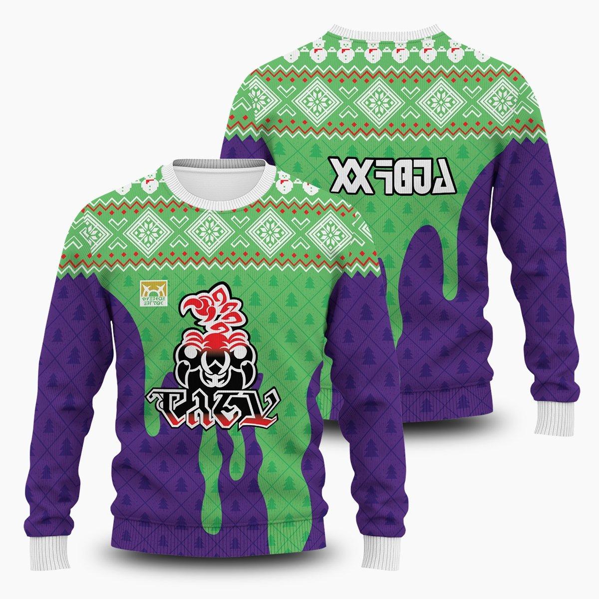 Pokemon Poison Uniform Unisex Wool Sweater FDM0310 S Official Otaku Treat Merch