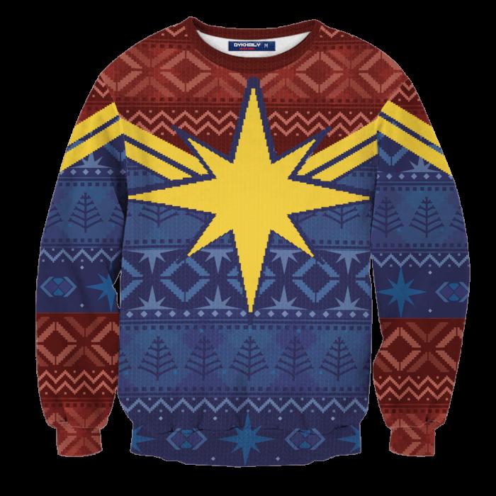 Protector of Christmas Skies Unisex Wool Sweater FDM0310 S Official Otaku Treat Merch