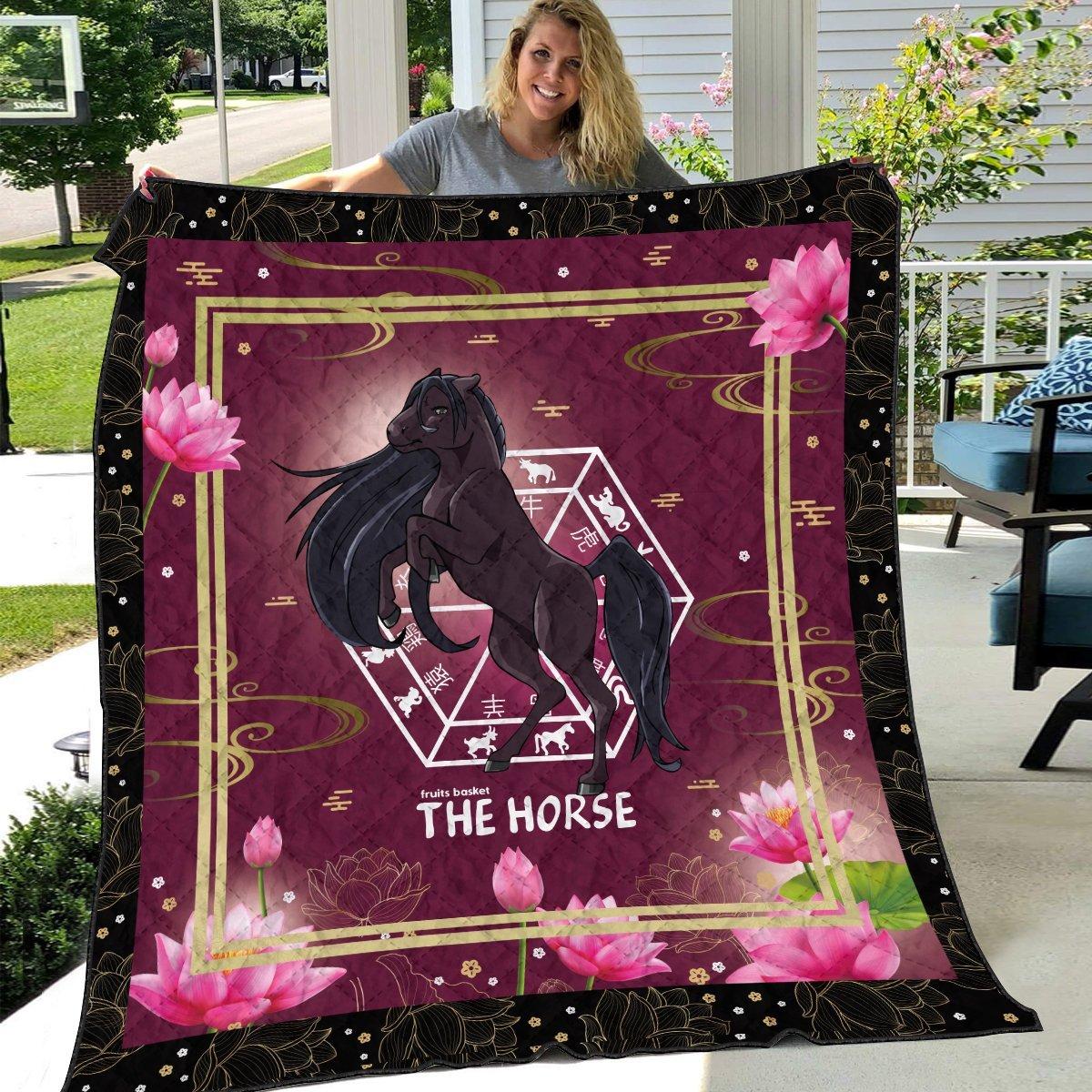 rin the horse quilt blanket 754682 - Otaku Treat