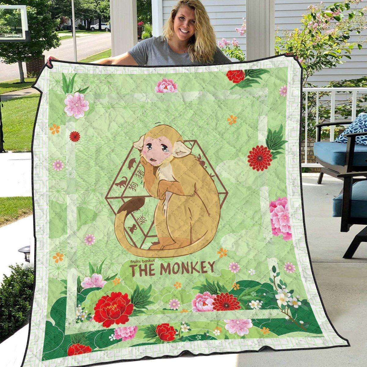 ritsu the monkey quilt blanket 254270 - Otaku Treat